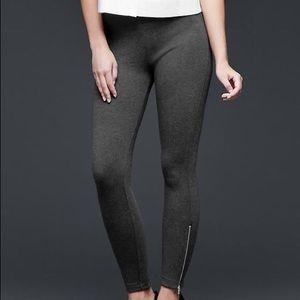 NWT GAP Gray Leggings w Zippers XS